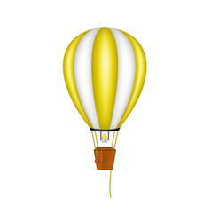 hot air balloon in orange and white design vector image