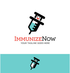 Immunize character logo or icon design vector