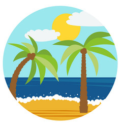 in the flat style with palm vector image