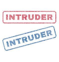 Intruder textile stamps vector