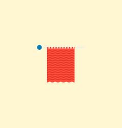 Knit needle icon flat element vector