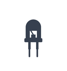 Light emitting diode icon on white vector