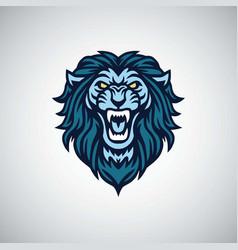 lion roaring mascot logo vector image