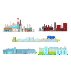 Mining pharmaceutical and industrial factory vector