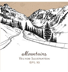 MountainRoad vector image