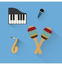 Music sound instruments vector