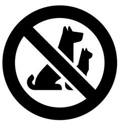 no pets forbidden sign modern round sticker vector image