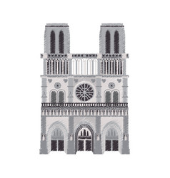 notre dame cathedral paris icon image vector image