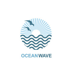 Ocean icon design vector