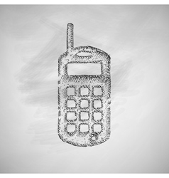 Old mobile phone icon vector