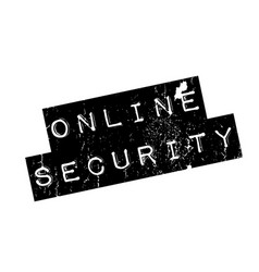 Online security rubber stamp vector