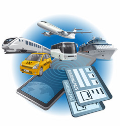 online transport tickets vector image