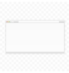 Opened 16x9 browser window template Ready for vector