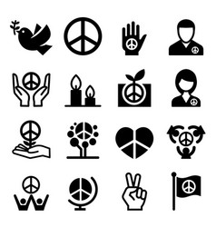 peace icon vector image