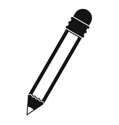Pencil with eraser icon simple vector
