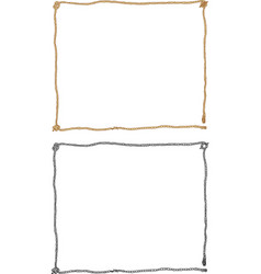Rope decorative frame vector