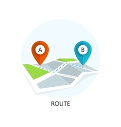 Route Icon Flat Design vector image