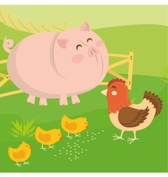 Rural and farm icons vector