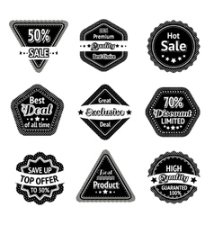 Sale tags and stickers set vector image