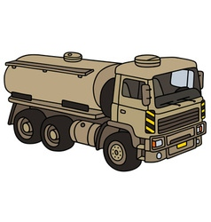 Sand military tank truck vector