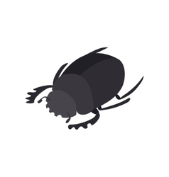Scarab icon isometric 3d style vector