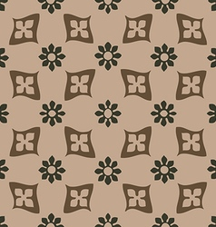Seamless floral pattern vintage background vector