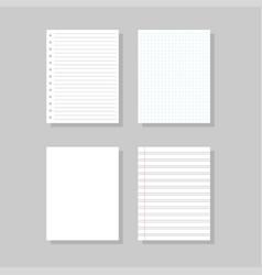 Set realistic paper template vector