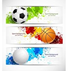 set sport banners vector image