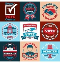 Set vote labels badges for elections vector