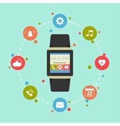 Smart watch gadget vector