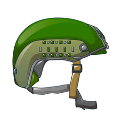 Special force helmet icon cartoon style vector