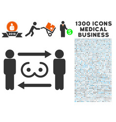swingers exchange icon with 1300 medical business vector image