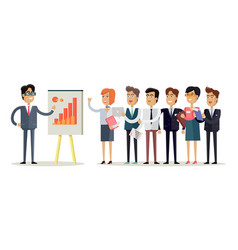 Team work concept in flat design vector