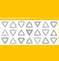 text frame monogram triangle art banner set vector image