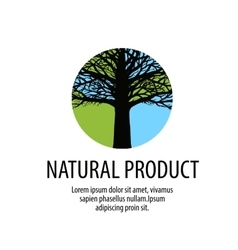 Tree logo Oak icon Nature ecology symbol vector