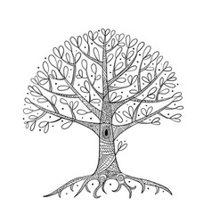 tree with roots for your design vector image