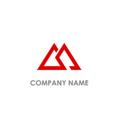 Triangle double line logo vector