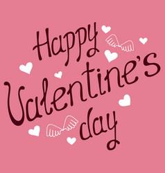 valentines day calligraphy phrase handwritten vector image