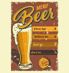 vintage pub poster design vector image