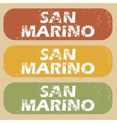 Vintage San Marino stamp set vector