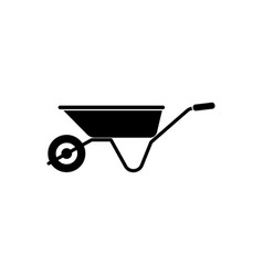 wheelbarrow icon gardening tool vector image