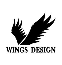 Wings design 2 vector