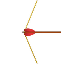 Bow arrow ready to shoot vector