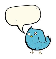cartoon bird with speech bubble vector image vector image