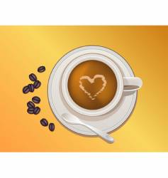 coffee bean and coffee cup vector image