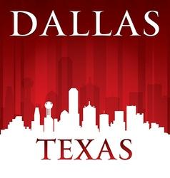 Dallas Texas city skyline silhouette vector image