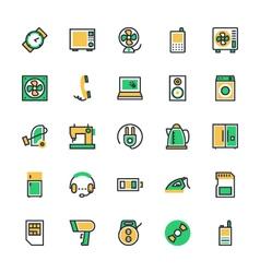 Electronics icons 2 vector