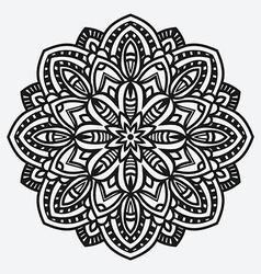 floral ornament circular pattern vector image vector image