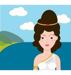 Greece Girl vector image vector image