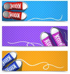 Gumshoes Banner Set vector image vector image
